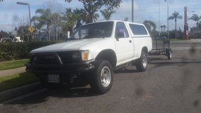 1990 toyota Truck with trailer in Oceanside, California
