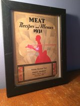 """1931 Holiday Cook Book """"Freds Market 1023 E 47th St, Chicago """"COMES FRAMED"""" in Chicago, Illinois"""