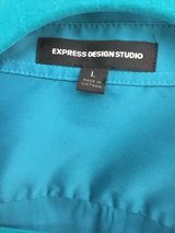 Express Teal Dress Shirt L in Warner Robins, Georgia