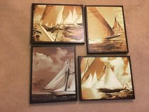 Set of 4 Printed Sailboat pictures on canvas in Bartlett, Illinois