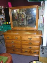 Vintage Double Dresser with Mirror in Camp Lejeune, North Carolina