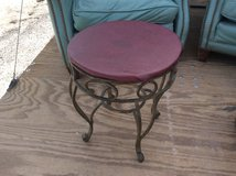 Small round Ro iron table in 29 Palms, California