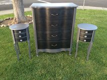 Dresser and matching night stands in Travis AFB, California
