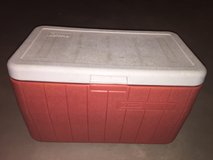 Red cooler in Naperville, Illinois