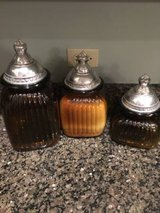 3 pc Glass Kitchen Canister Set in Bartlett, Illinois