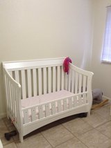 Toddler White Crib and Mattress in Schofield Barracks, Hawaii