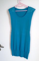 Knitted turquoise Dress size small in Stuttgart, GE