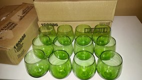 36 Green Stemless Wine Glasses/ Candle Holders in Fort Campbell, Kentucky