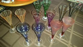Multi-Color / Crystal Cordial / 12 Piece Glass Set in Fort Campbell, Kentucky