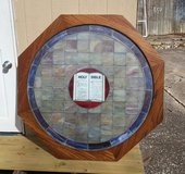 Beautiful Antique Bible Cristal Wooded Vitral Art in Conroe, Texas