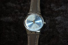 Swatch Blue Choco Blue Dial Clear Plastic brown Leather (new) in Ramstein, Germany