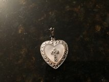 Sterling Silver Heart with Cross in Aurora, Illinois