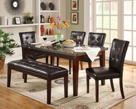 "LUXURIOUS ""MANHATTAN"" SOLID WOOD/MARBLE COLLECTION DINING SET ! in Camp Pendleton, California"