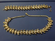 Gorgeous Vintage Gold, Pearl and Rhinestone Necklace & Bracelet in Aurora, Illinois
