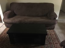 Couch and coffee table in Fort Irwin, California