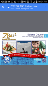 ZBest Dining and Entertainment books 2017 in Travis AFB, California