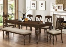 FORMAL DINE SET WITH BENCH WAS $1199 CLEARANCE PRICE $649 in San Bernardino, California