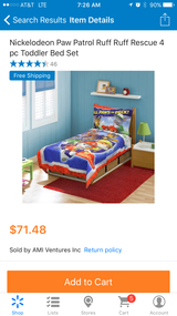 Paw patrol toddler bed set washed once didn't use it in Travis AFB, California
