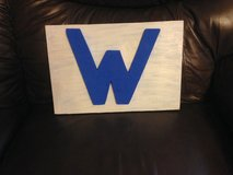Cubs W wood plaque in Joliet, Illinois