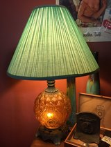 Pair Of Mid-Century Finklestein Golden Glass Lamps!  Funky! (shades not incl.) in Beaufort, South Carolina