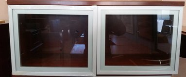 """36"""" Laminate Wall Mounted Hutch with Glass Doors in Cary, North Carolina"""