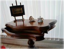 solid wood console - game table with drawer in Ramstein, Germany