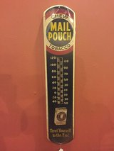 "Vintage Mail Pouch Outdoor Advertising Thermometer! 8""x38"" Tip Top Vintage Condition!Great Colors! in Beaufort, South Carolina"