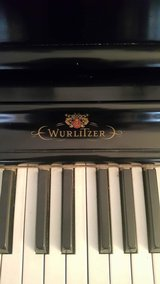 Wurlitzer Piano and Piano Bench  in Excellent Condition Serial Number Dates To Over 60 Years Old in Naperville, Illinois