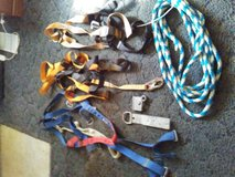 3 safety harness. Rope grab. Rafter tieoff. 60' nylon rope in Fort Rucker, Alabama