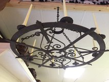 """Old Hand Wrought Rustic Iron Chandelier 27"""" In Diameter! Just Plain Ol' Beautiful! in Beaufort, South Carolina"""