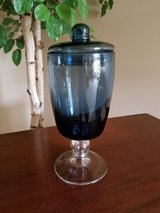 Beautiful blue glass container in Westmont, Illinois
