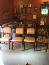 4 Antique Wood Chairs! Sturdy With Nice Detailing! in Beaufort, South Carolina