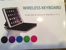 Wireless Keyboard for all versions of iPad Mini - Blue in Joliet, Illinois