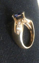 14kt Diamonds &Sapphire ring with current appraisal in Hemet, California