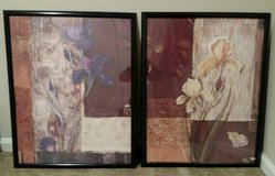 2 Beautiful floral posters with black frames. Red, Purple, & Cream in Fort Polk, Louisiana