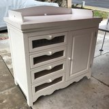 White Dresser with Changing Table in San Clemente, California