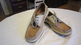 perry Top-Sider Mens Tan Leather BILLFISH 3-EYE Boat Shoes Size 9  - $20 (Naperville) in Joliet, Illinois