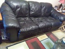 Black leather sofa couch in Alamogordo, New Mexico
