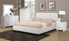 WHITE QUEEN BED FRAME ON SALE FREE DELIVERY in Huntington Beach, California