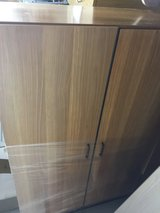 2 piece filing cabinet (35.5x18x52.3 2 door cabinet & 35.5x18x25 2 drawer filing cabinet) in Ramstein, Germany