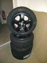 Mazda 323F Allseason Tires with Aluminum Rims in Ramstein, Germany