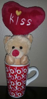 Valentine cup with bear in Houston, Texas