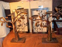 3 TIER CANLE HOLDERS WITH METAL PICTURES in Perry, Georgia