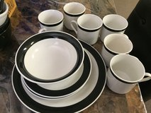 Black line dishes in Fort Irwin, California