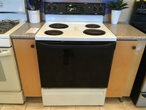 GE Black & White Range Stove Oven - USED in Fort Lewis, Washington