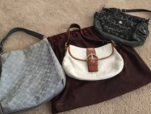 3 Authentic coach purse in Cherry Point, North Carolina