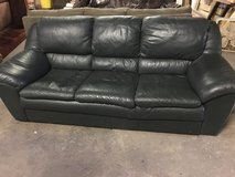 Leather couch in Morris, Illinois
