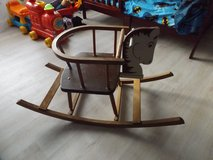 Wooden Rocking Horse in Ramstein, Germany