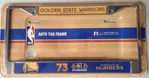 GOLDEN STATE WARRIORS  License Plate Frame in Travis AFB, California