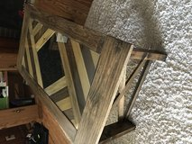 New Custom-built Real Wood Coffee Table with Glass Top in Fort Rucker, Alabama
